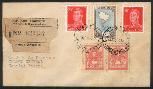 Lot 719 - Argentina general issues -  Guillermo Jalil - Philatino Auction #1950 ARGENTINA: