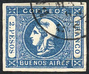 Lot 33 - Argentina cabecitas -  Guillermo Jalil - Philatino Auction #1950 ARGENTINA: