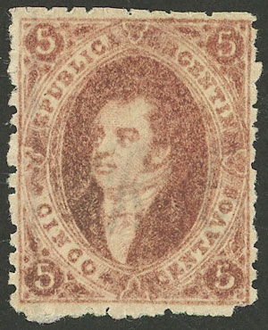 Lot 7 - Argentina rivadavias -  Guillermo Jalil - Philatino Auction # 2004 ARGENTINA: Special January auction, 101 RARE LOTS 101!