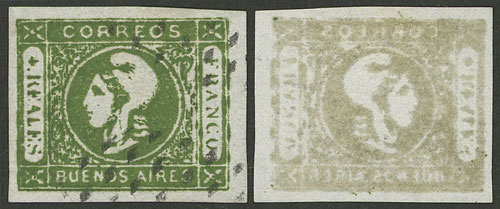 Lot 3 - Argentina cabecitas -  Guillermo Jalil - Philatino Auction # 2004 ARGENTINA: Special January auction, 101 RARE LOTS 101!
