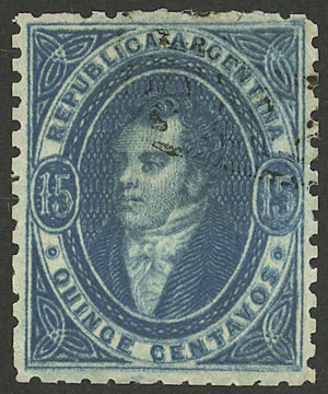 Lot 10 - Argentina rivadavias -  Guillermo Jalil - Philatino Auction # 2004 ARGENTINA: Special January auction, 101 RARE LOTS 101!