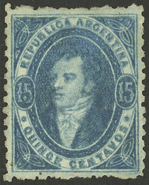Lot 12 - Argentina rivadavias -  Guillermo Jalil - Philatino Auction # 2004 ARGENTINA: Special January auction, 101 RARE LOTS 101!