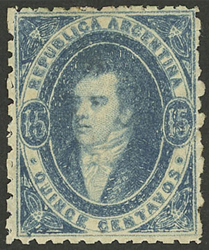 Lot 13 - Argentina rivadavias -  Guillermo Jalil - Philatino Auction # 2004 ARGENTINA: Special January auction, 101 RARE LOTS 101!