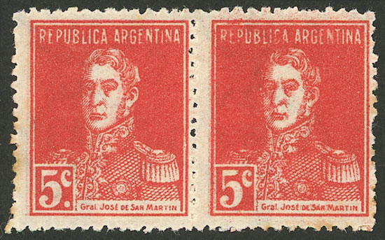 Lot 33 - Argentina general issues -  Guillermo Jalil - Philatino Auction # 2004 ARGENTINA: Special January auction, 101 RARE LOTS 101!