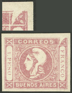 Lot 4 - Argentina cabecitas -  Guillermo Jalil - Philatino Auction # 2004 ARGENTINA: Special January auction, 101 RARE LOTS 101!