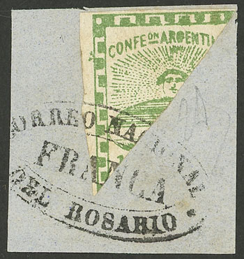 Lot 6 - Argentina confederation -  Guillermo Jalil - Philatino Auction # 2004 ARGENTINA: Special January auction, 101 RARE LOTS 101!