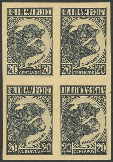 Lot 66 - Argentina general issues -  Guillermo Jalil - Philatino Auction # 2004 ARGENTINA: Special January auction, 101 RARE LOTS 101!