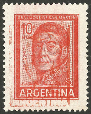 Lot 587 - Argentina general issues -  Guillermo Jalil - Philatino Auction # 2005 ARGENTINA: