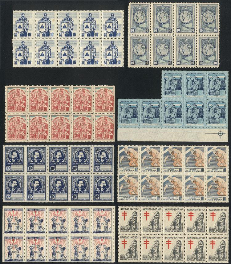 Lot 839 - Argentina cinderellas -  Guillermo Jalil - Philatino Auction # 2005 ARGENTINA: