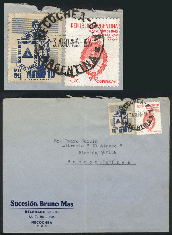 Lot 779 - Argentina postal history -  Guillermo Jalil - Philatino Auction # 2005 ARGENTINA: