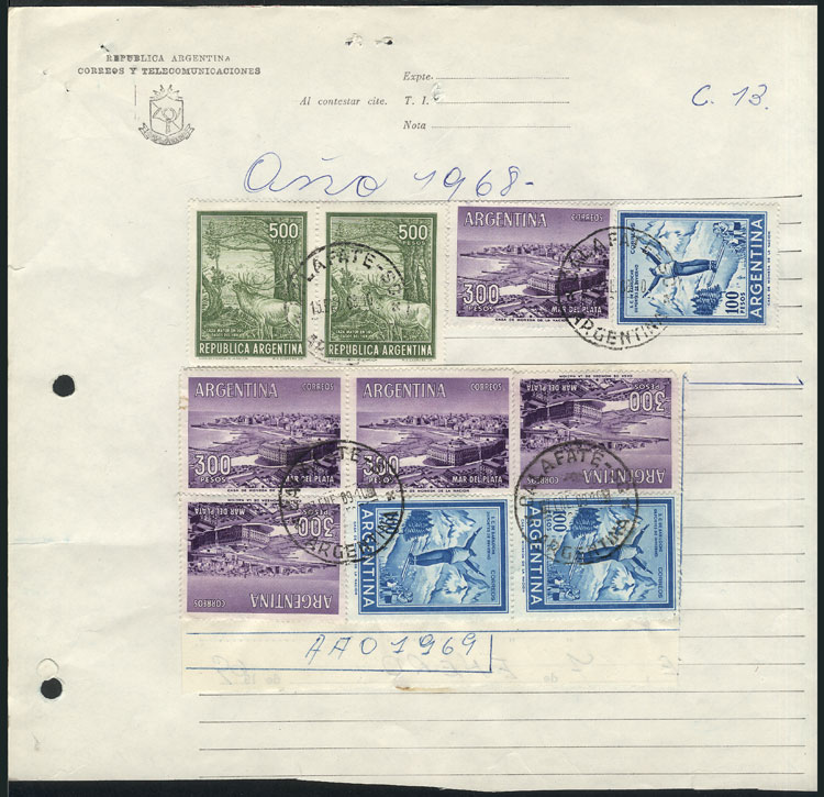 Lot 794 - Argentina postal history -  Guillermo Jalil - Philatino Auction # 2005 ARGENTINA: