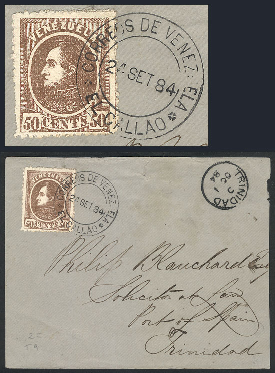 Lot 836 - Venezuela postal history -  Guillermo Jalil - Philatino Auction # 2006 WORLDWIDE + ARGENTINA: Selection of covers of all periods, cards, postal stationeries and more!