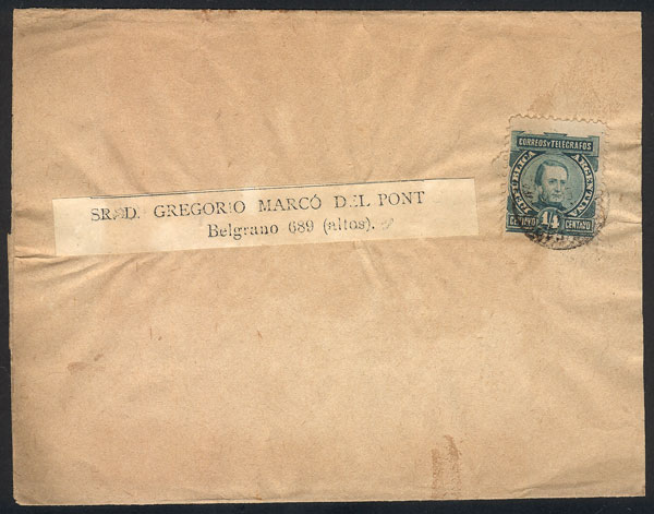 Lot 144 - Argentina postal history -  Guillermo Jalil - Philatino Auction # 2006 WORLDWIDE + ARGENTINA: Selection of covers of all periods, cards, postal stationeries and more!