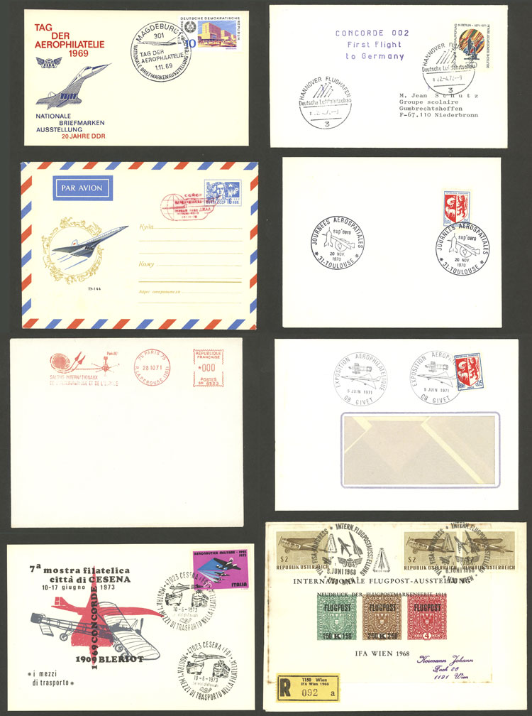 Lot 16 - topic aviation Lots and Collections -  Guillermo Jalil - Philatino Auction # 2006 WORLDWIDE + ARGENTINA: Selection of covers of all periods, cards, postal stationeries and more!