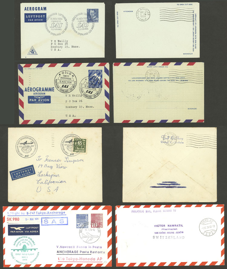 Lot 20 - topic aviation Lots and Collections -  Guillermo Jalil - Philatino Auction # 2006 WORLDWIDE + ARGENTINA: Selection of covers of all periods, cards, postal stationeries and more!