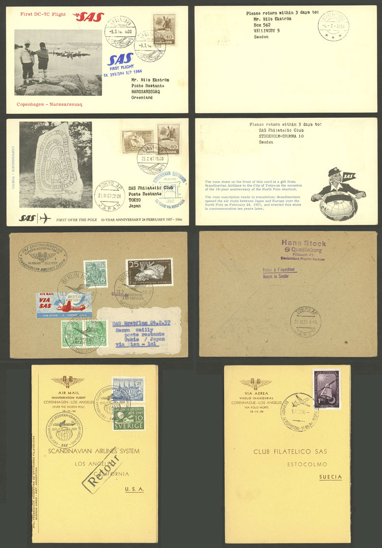Lot 19 - topic aviation Lots and Collections -  Guillermo Jalil - Philatino Auction # 2006 WORLDWIDE + ARGENTINA: Selection of covers of all periods, cards, postal stationeries and more!