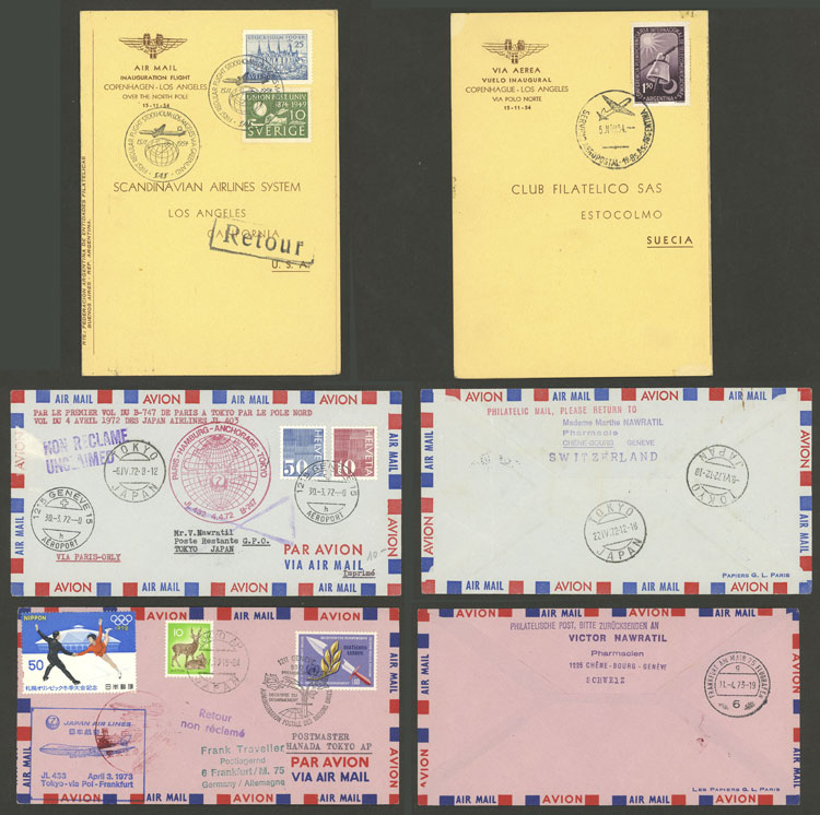 Lot 18 - topic aviation Lots and Collections -  Guillermo Jalil - Philatino Auction # 2006 WORLDWIDE + ARGENTINA: Selection of covers of all periods, cards, postal stationeries and more!