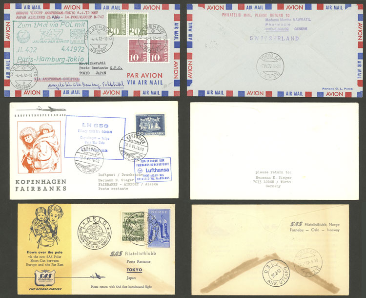 Lot 17 - topic aviation Lots and Collections -  Guillermo Jalil - Philatino Auction # 2006 WORLDWIDE + ARGENTINA: Selection of covers of all periods, cards, postal stationeries and more!