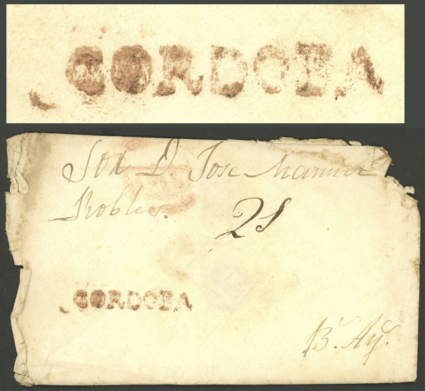 Lot 130 - Argentina prephilately -  Guillermo Jalil - Philatino Auction # 2006 WORLDWIDE + ARGENTINA: Selection of covers of all periods, cards, postal stationeries and more!