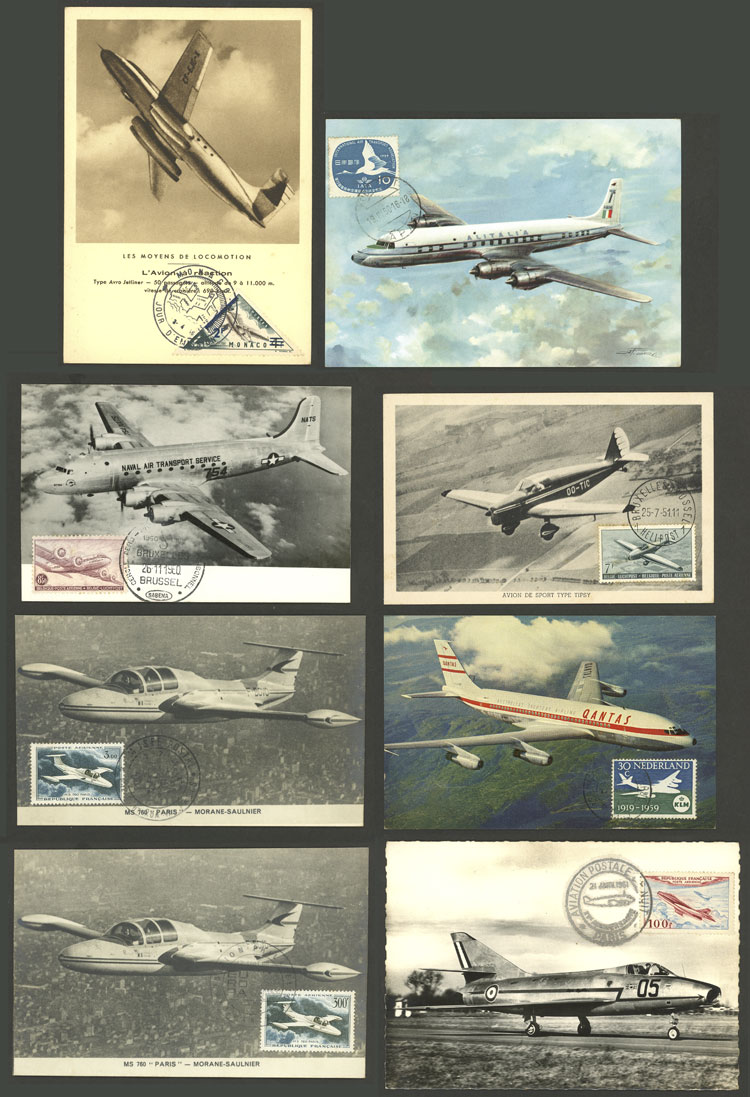 Lot 8 - topic aviation Lots and Collections -  Guillermo Jalil - Philatino Auction # 2006 WORLDWIDE + ARGENTINA: Selection of covers of all periods, cards, postal stationeries and more!