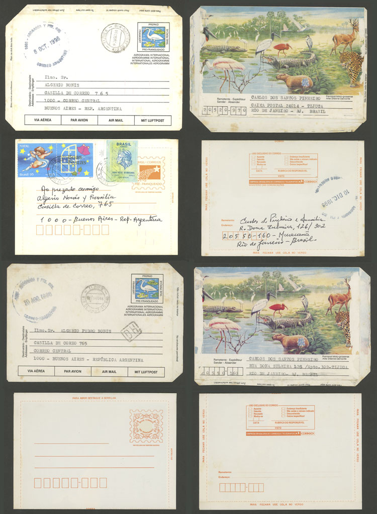 Lot 372 - brazil Lots and Collections -  Guillermo Jalil - Philatino Auction # 2006 WORLDWIDE + ARGENTINA: Selection of covers of all periods, cards, postal stationeries and more!
