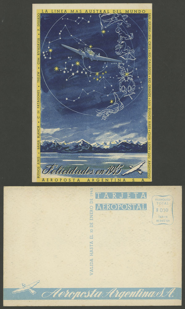 Lot 208 - Argentina postcards -  Guillermo Jalil - Philatino Auction # 2006 WORLDWIDE + ARGENTINA: Selection of covers of all periods, cards, postal stationeries and more!