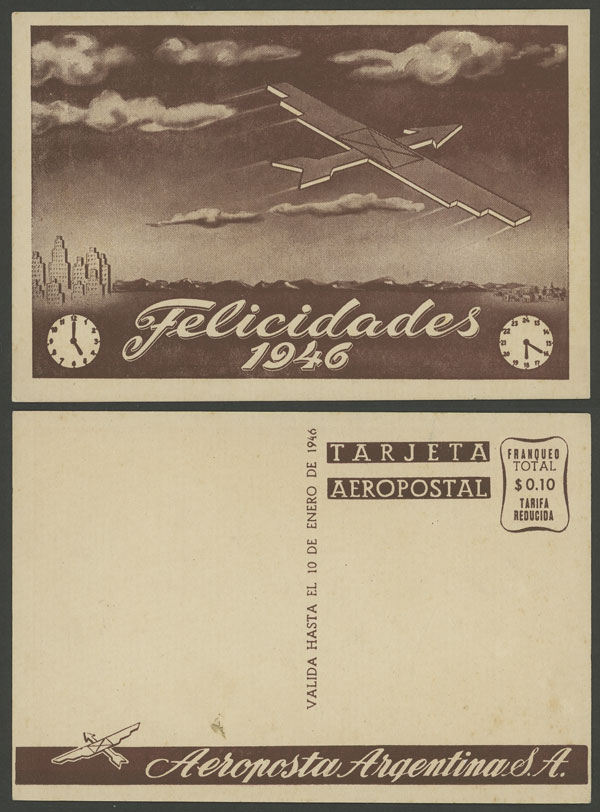 Lot 209 - Argentina postcards -  Guillermo Jalil - Philatino Auction # 2006 WORLDWIDE + ARGENTINA: Selection of covers of all periods, cards, postal stationeries and more!