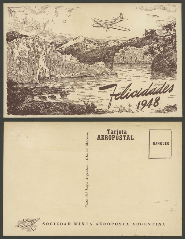 Lot 210 - Argentina postcards -  Guillermo Jalil - Philatino Auction # 2006 WORLDWIDE + ARGENTINA: Selection of covers of all periods, cards, postal stationeries and more!