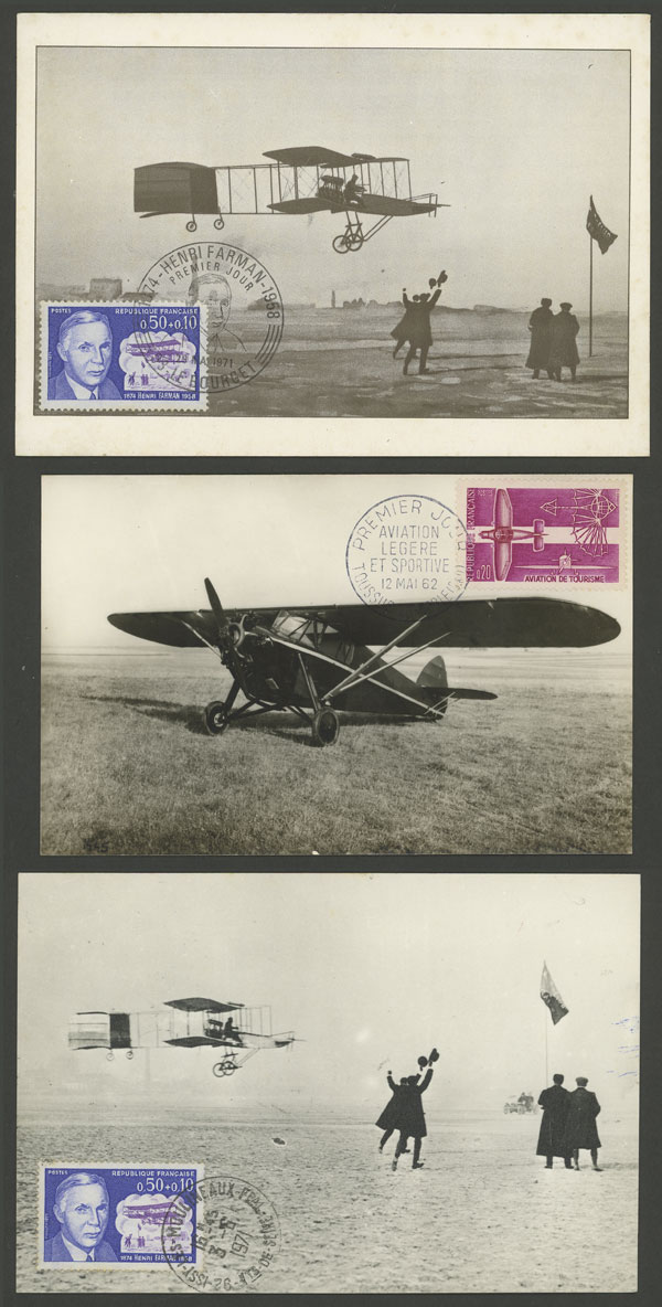 Lot 12 - topic aviation Lots and Collections -  Guillermo Jalil - Philatino Auction # 2006 WORLDWIDE + ARGENTINA: Selection of covers of all periods, cards, postal stationeries and more!
