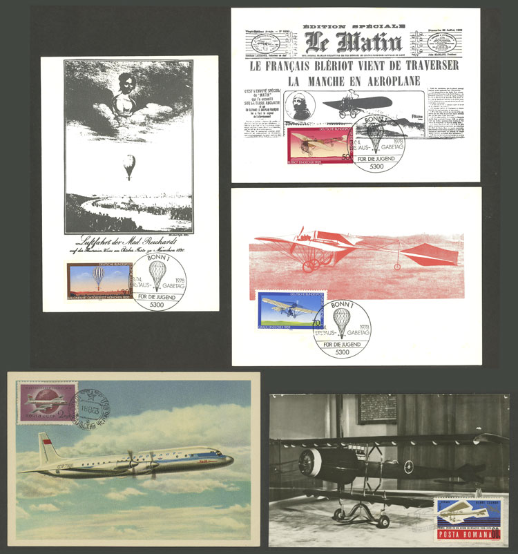 Lot 9 - topic aviation Lots and Collections -  Guillermo Jalil - Philatino Auction # 2006 WORLDWIDE + ARGENTINA: Selection of covers of all periods, cards, postal stationeries and more!
