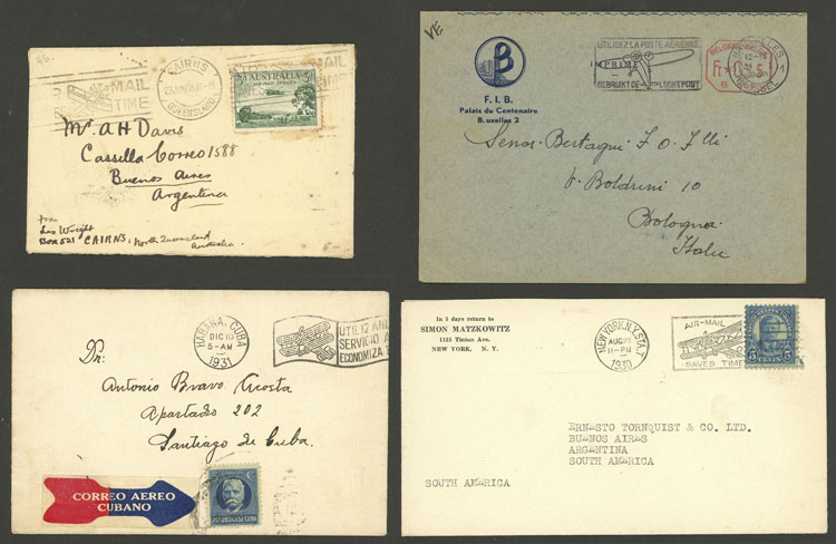 Lot 3 - topic aviation postal history -  Guillermo Jalil - Philatino Auction # 2006 WORLDWIDE + ARGENTINA: Selection of covers of all periods, cards, postal stationeries and more!