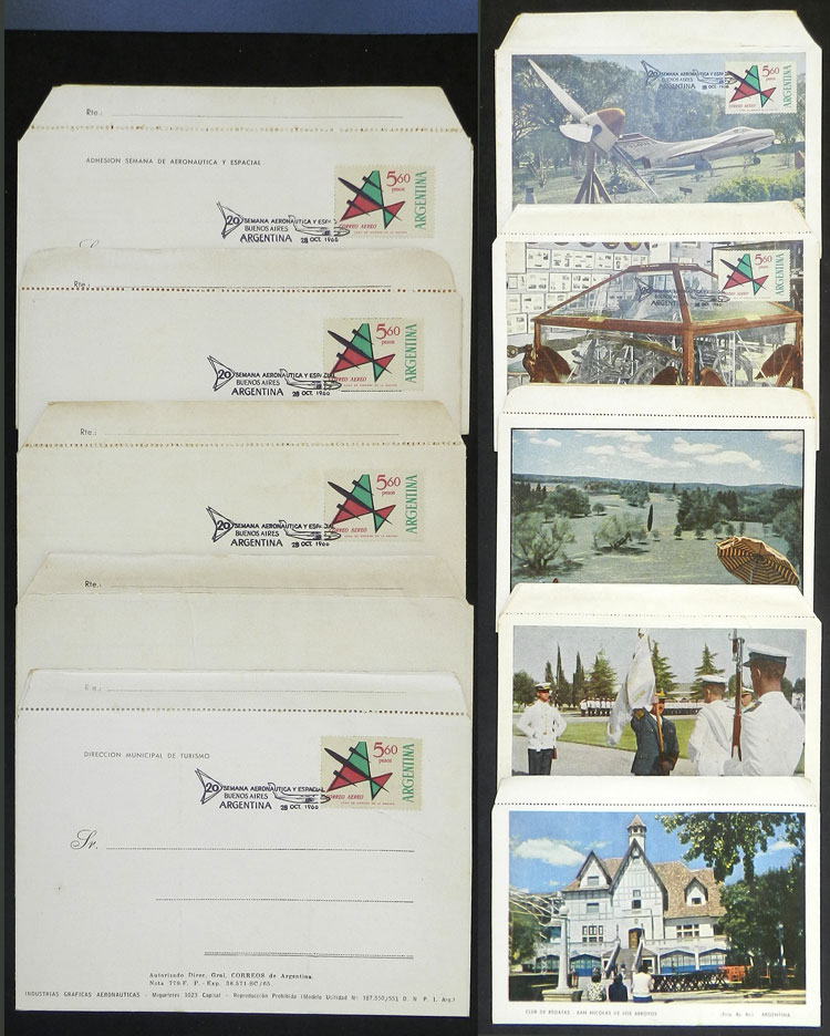 Lot 229 - Argentina other items -  Guillermo Jalil - Philatino Auction # 2006 WORLDWIDE + ARGENTINA: Selection of covers of all periods, cards, postal stationeries and more!