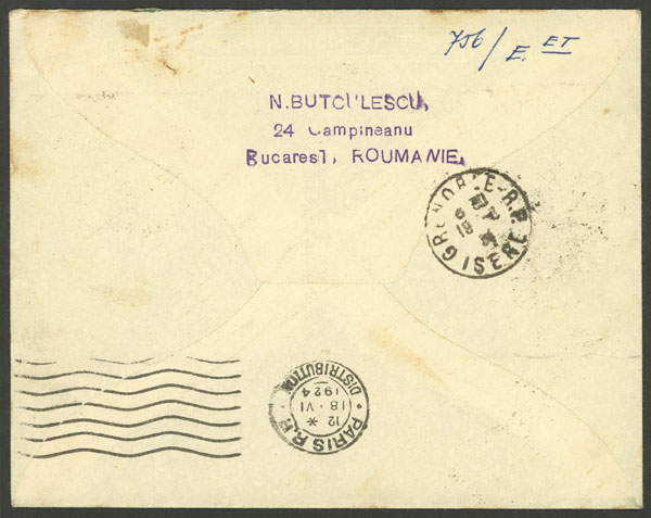 Lot 752 - Romania postal history -  Guillermo Jalil - Philatino Auction # 2006 WORLDWIDE + ARGENTINA: Selection of covers of all periods, cards, postal stationeries and more!