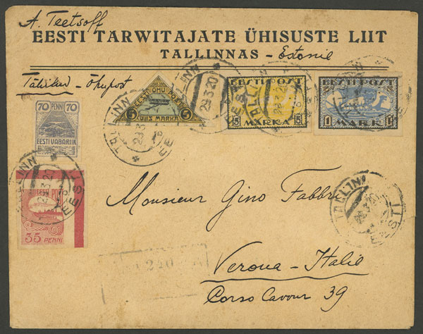 Lot 482 - estonia postal history -  Guillermo Jalil - Philatino Auction # 2006 WORLDWIDE + ARGENTINA: Selection of covers of all periods, cards, postal stationeries and more!
