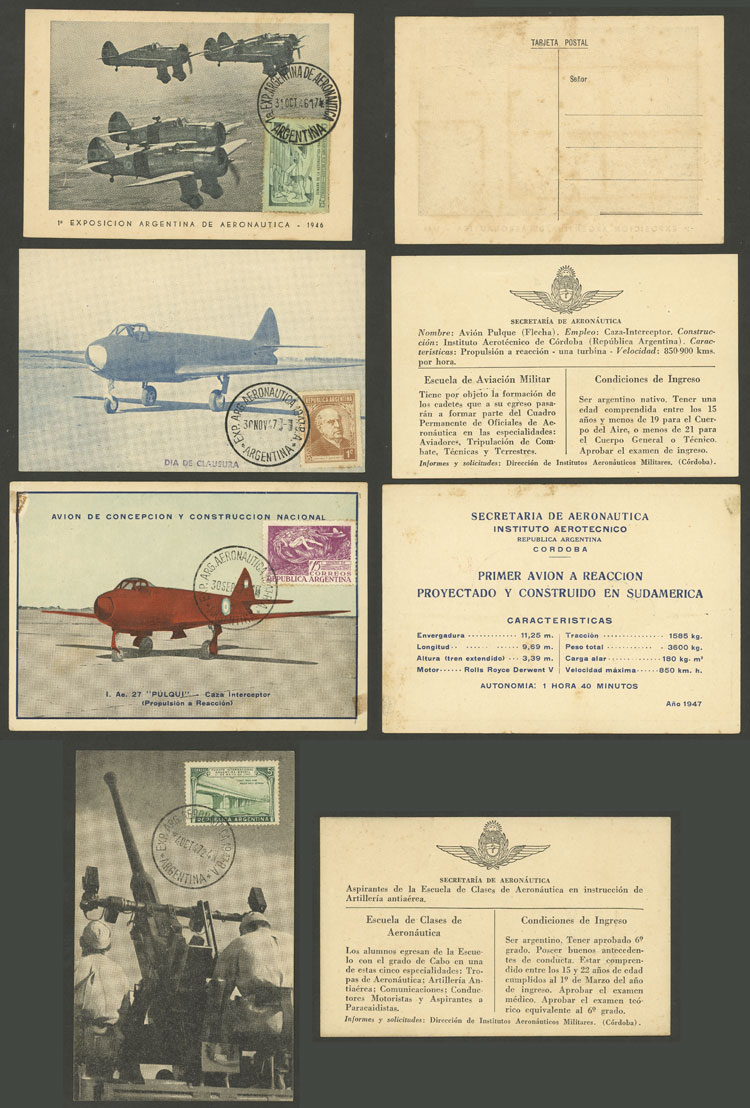 Lot 223 - Argentina postcards -  Guillermo Jalil - Philatino Auction # 2006 WORLDWIDE + ARGENTINA: Selection of covers of all periods, cards, postal stationeries and more!