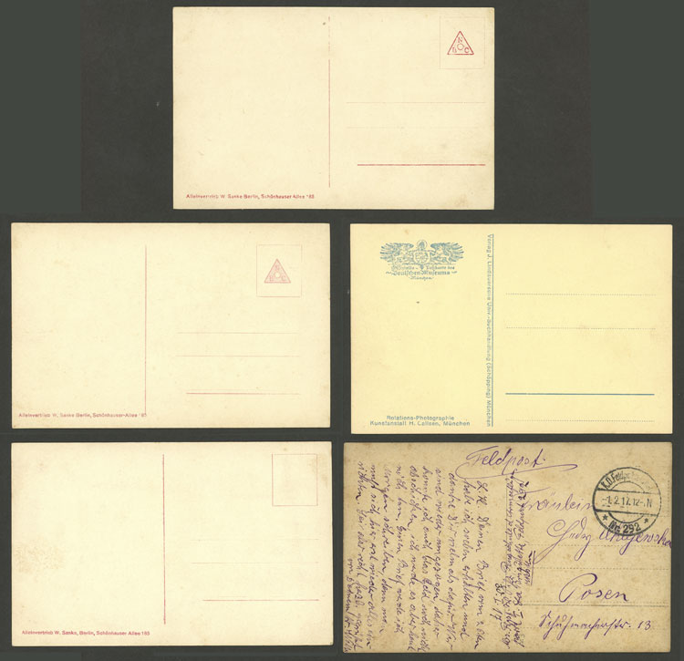Lot 69 - germany postcards -  Guillermo Jalil - Philatino Auction # 2006 WORLDWIDE + ARGENTINA: Selection of covers of all periods, cards, postal stationeries and more!