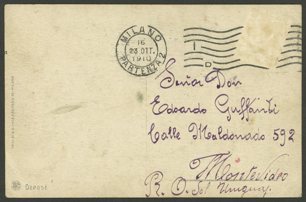 Lot 642 - Italy postcards -  Guillermo Jalil - Philatino Auction # 2006 WORLDWIDE + ARGENTINA: Selection of covers of all periods, cards, postal stationeries and more!