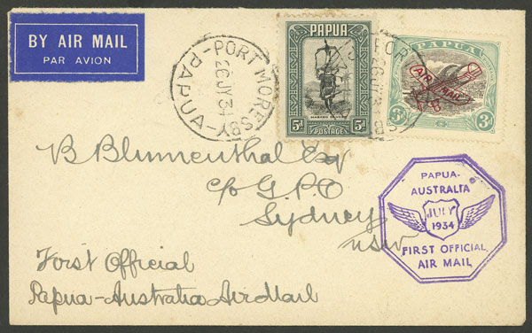 Lot 701 - papua postal history -  Guillermo Jalil - Philatino Auction # 2006 WORLDWIDE + ARGENTINA: Selection of covers of all periods, cards, postal stationeries and more!