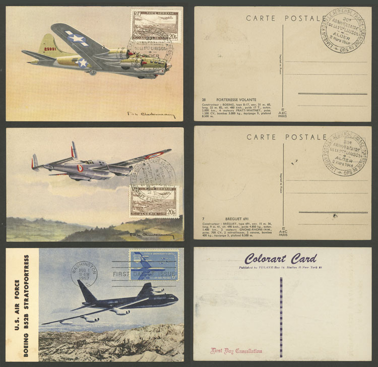 Lot 14 - topic aviation Lots and Collections -  Guillermo Jalil - Philatino Auction # 2006 WORLDWIDE + ARGENTINA: Selection of covers of all periods, cards, postal stationeries and more!