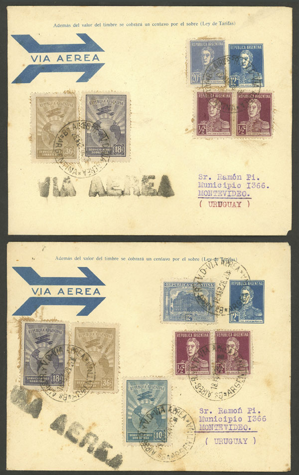Lot 157 - Argentina postal history -  Guillermo Jalil - Philatino Auction # 2006 WORLDWIDE + ARGENTINA: Selection of covers of all periods, cards, postal stationeries and more!