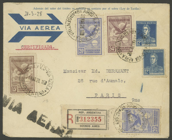 Lot 156 - Argentina postal history -  Guillermo Jalil - Philatino Auction # 2006 WORLDWIDE + ARGENTINA: Selection of covers of all periods, cards, postal stationeries and more!