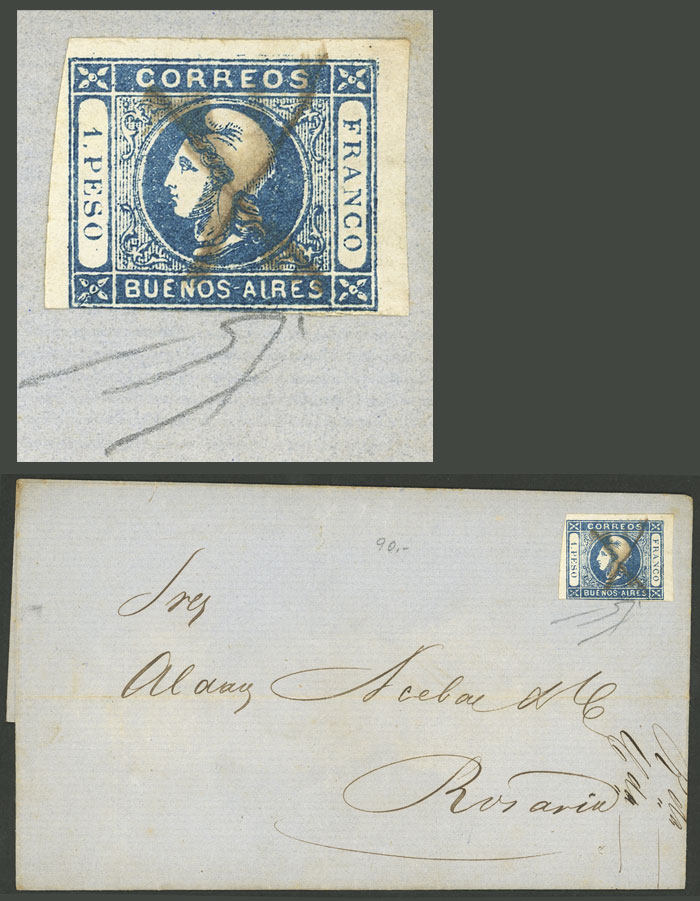 Lot 90 - Argentina cabecitas -  Guillermo Jalil - Philatino Auction # 2006 WORLDWIDE + ARGENTINA: Selection of covers of all periods, cards, postal stationeries and more!