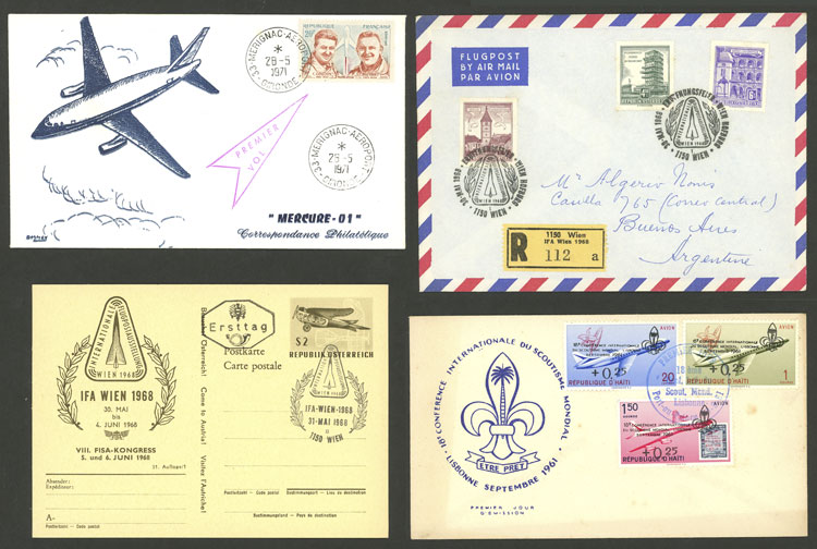 Lot 799 - worldwide postal history -  Guillermo Jalil - Philatino Auction # 2006 WORLDWIDE + ARGENTINA: Selection of covers of all periods, cards, postal stationeries and more!