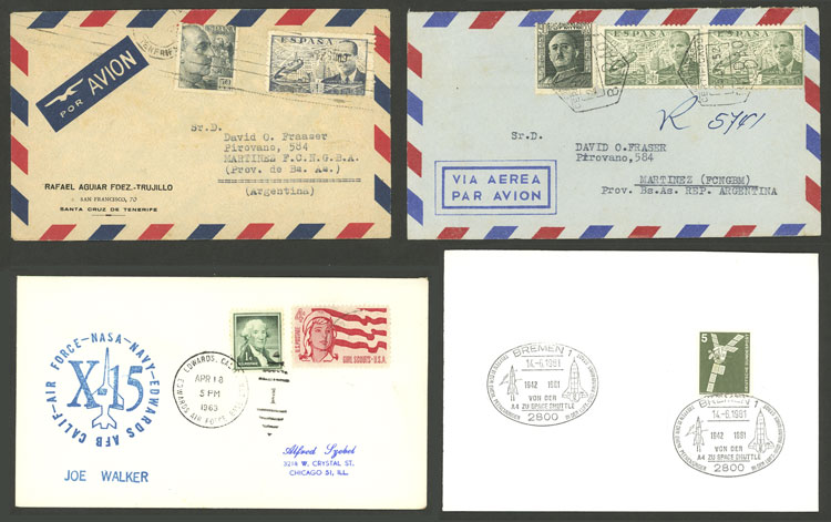 Lot 798 - worldwide postal history -  Guillermo Jalil - Philatino Auction # 2006 WORLDWIDE + ARGENTINA: Selection of covers of all periods, cards, postal stationeries and more!