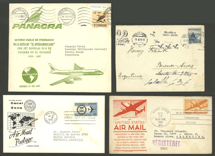 Lot 796 - worldwide postal history -  Guillermo Jalil - Philatino Auction # 2006 WORLDWIDE + ARGENTINA: Selection of covers of all periods, cards, postal stationeries and more!