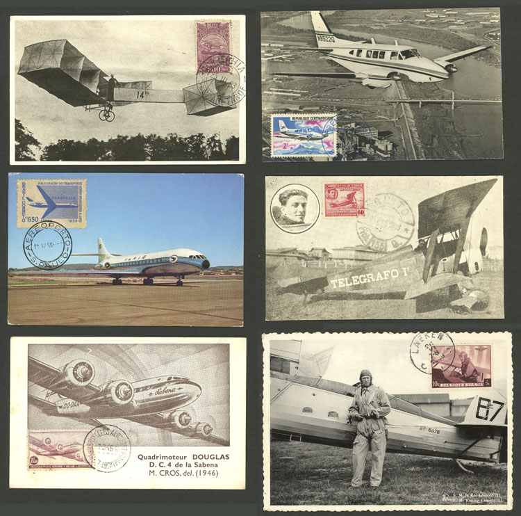 Lot 13 - topic aviation Lots and Collections -  Guillermo Jalil - Philatino Auction # 2006 WORLDWIDE + ARGENTINA: Selection of covers of all periods, cards, postal stationeries and more!