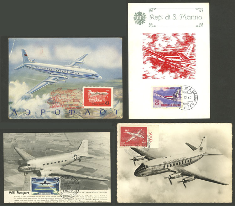 Lot 11 - topic aviation Lots and Collections -  Guillermo Jalil - Philatino Auction # 2006 WORLDWIDE + ARGENTINA: Selection of covers of all periods, cards, postal stationeries and more!