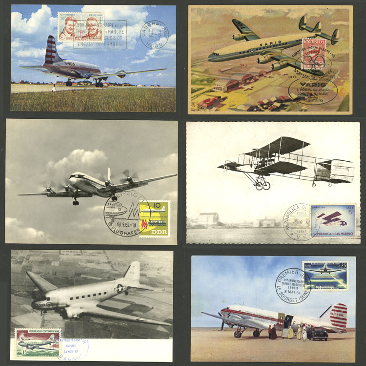 Lot 10 - topic aviation Lots and Collections -  Guillermo Jalil - Philatino Auction # 2006 WORLDWIDE + ARGENTINA: Selection of covers of all periods, cards, postal stationeries and more!