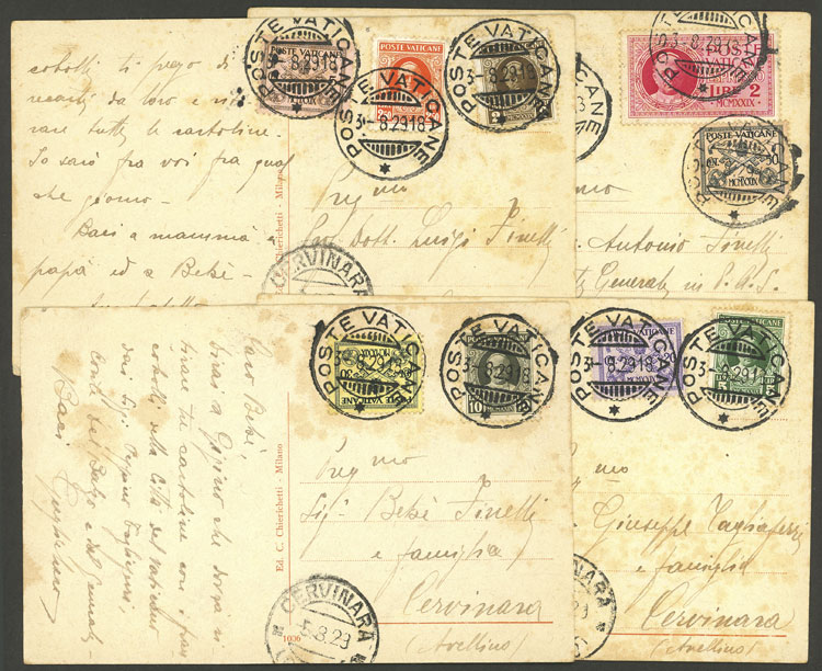Lot 831 - vatican postal history -  Guillermo Jalil - Philatino Auction # 2006 WORLDWIDE + ARGENTINA: Selection of covers of all periods, cards, postal stationeries and more!