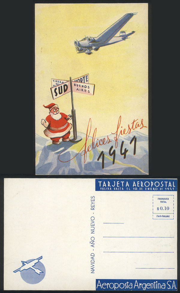 Lot 227 - Argentina postcards -  Guillermo Jalil - Philatino Auction # 2006 WORLDWIDE + ARGENTINA: Selection of covers of all periods, cards, postal stationeries and more!